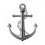 4566625-anchor-on-white-background